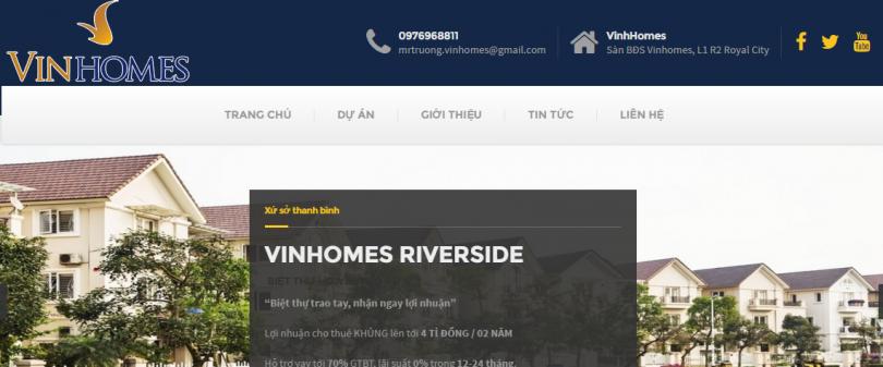 Dự Án BDS VinHomes