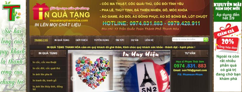 Dự án in quà tặng Thanh Hóa