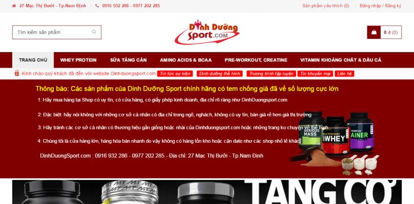 Dự án Dinh Dưỡng Sport Nam Định