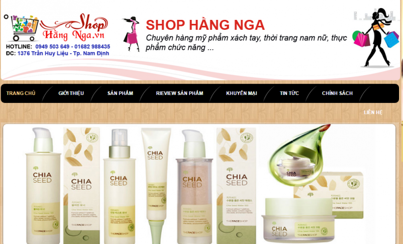 Dự Án Shop Hằng Nga Nam Định