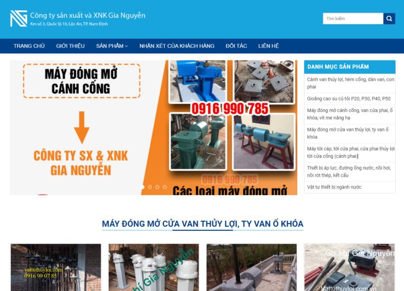 Dự án Cơ Khí Thủy Lợi Nam Định